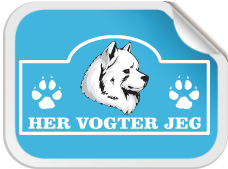 Hundeskilt - Her Vogter Jeg