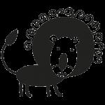 Løve 001 Wallsticker