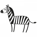 Zebra 001 Wallsticker