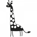 Giraf 001 Wallsticker