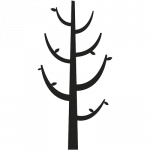 Garderobe træ 001 Wallsticker