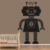 Robotpige wallsticker på væg