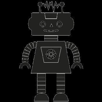 Robotpige 001 Wallsticker