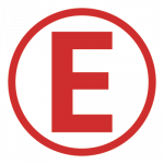 E for Extinguisher Sticker
