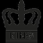 King 001 Wallsticker