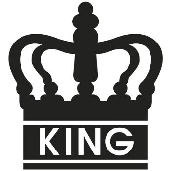 King 001 Wallsticker