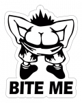 Bite Me 001 Sticker