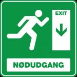 Nødudgang Ned 001