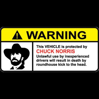 Warning 003 - Sticker
