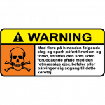 Warning 002 - Sticker