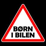 Børn i bilen 002  - Sticker