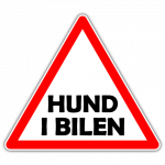 Hund i bilen 001 - Sticker