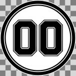 Nummercirkel - Sticker