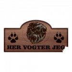 Her Vogter Jeg - Sticker - Affenpinscher