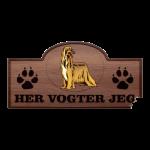 Her Vogter Jeg - Sticker - Afghansk Mynde