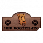 Her Vogter Jeg - Sticker - Airedale Terrie