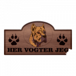 Her Vogter Jeg - Sticker - Alano Espanol