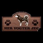 Her Vogter Jeg - Sticker - Alaskan Klee Kai