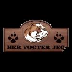 Her Vogter Jeg - Sticker - Amerikansk Bulldog