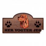 Her Vogter Jeg - Sticker - Amerikansk Cocker Spaniel