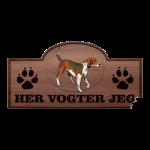 Her Vogter Jeg - Sticker - Amerikansk Foxhound