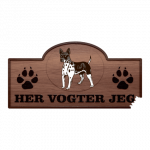 Her Vogter Jeg - Sticker - Amerikansk Hårløs Terrier