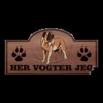 Her Vogter Jeg - Sticker - Amerikansk Mastiff