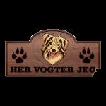 Her Vogter Jeg - Sticker - Amerikansk Miniature Shepherd