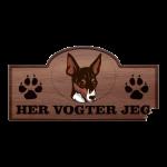 Her Vogter Jeg - Sticker - Amerikansk Toy Fox Terrier