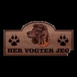 Her Vogter Jeg - Sticker - Amerikansk Vandspaniel