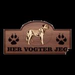 Her Vogter Jeg - Sticker -  Anatolsk hyrdehund