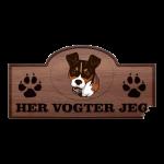 Her Vogter Jeg - Sticker - Andalusisk Rottehund