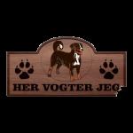 Her Vogter Jeg - Sticker - Appenzeller Sennenhund