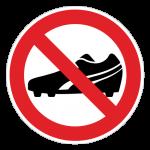 Fodboldstøvler-forbudt-cirkel