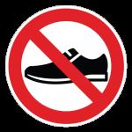 Fodtøj-forbudt-cirkel