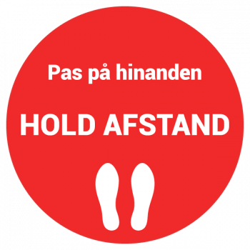 Hold afstand sticker