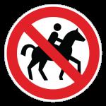 Ridning-forbudt-cirkel