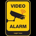 video-alarm-m-tekst